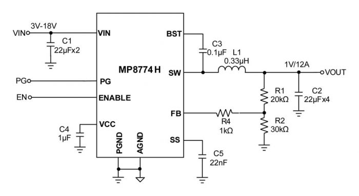 MP8774H Synchronous Step-Down Converter