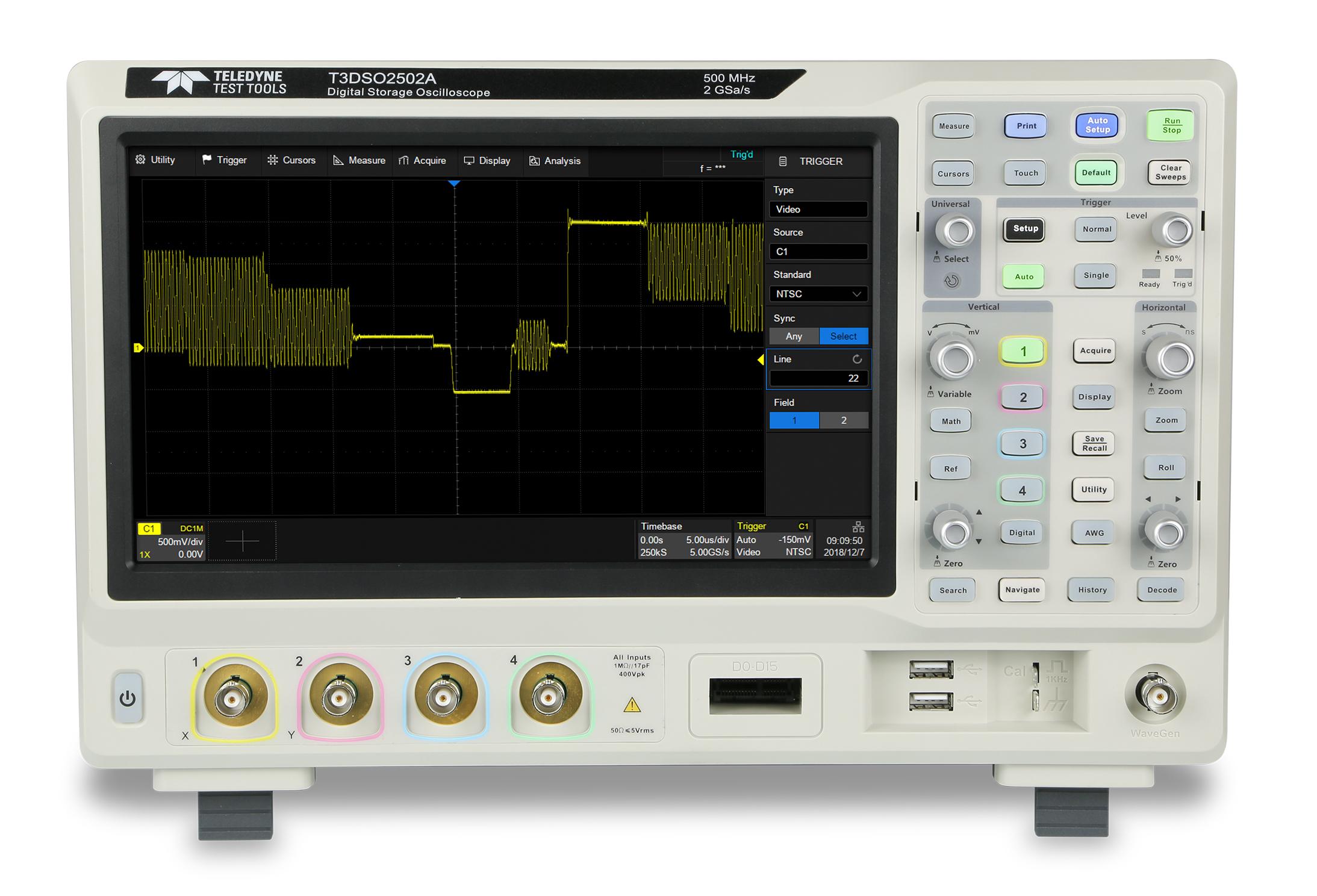 T3DSO2000A Series Advanced 500MHz Oscilloscopes