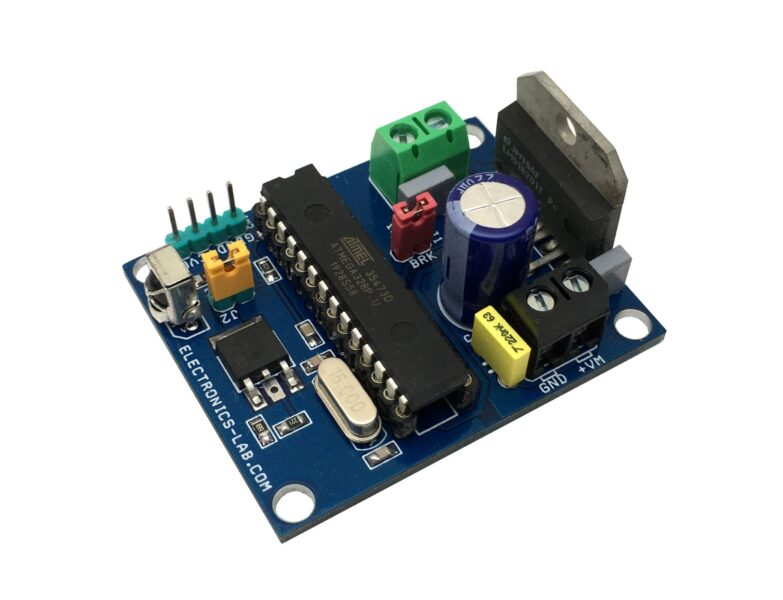 Brushed DC Motor Controller Using Infra-Red Remote