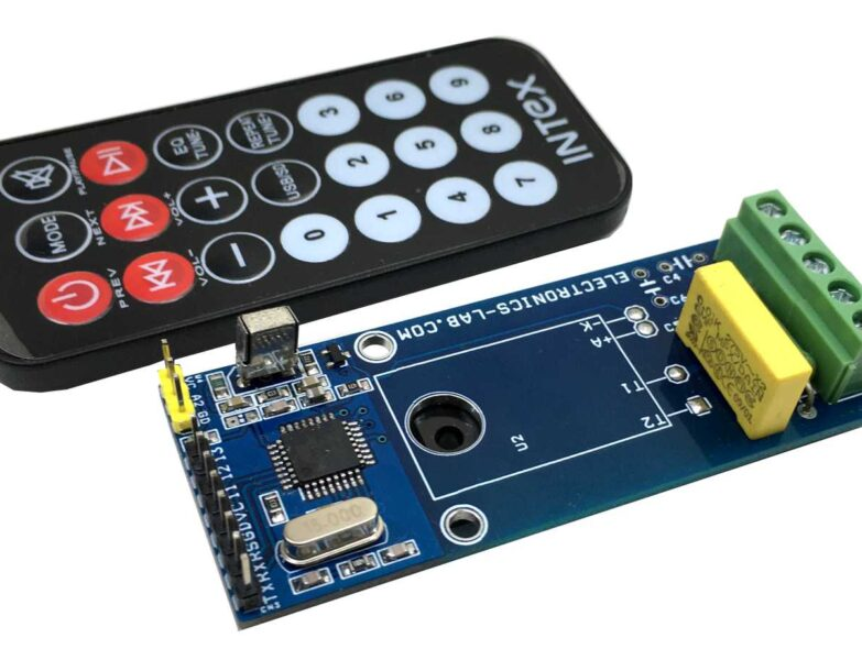 Infrared Remote-Controlled AC Load ON/OFF switch with SSR