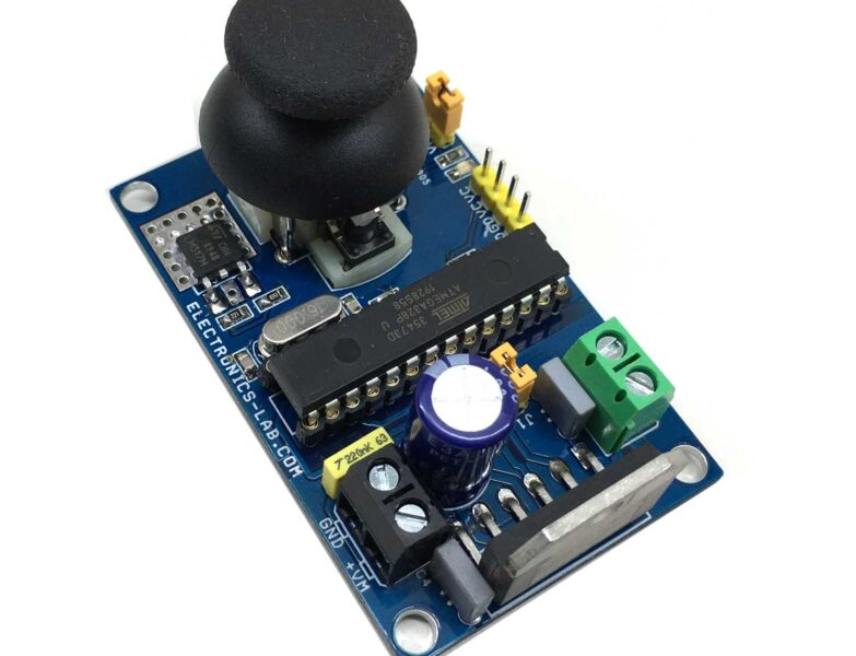 Brushed DC Motor Speed and Direction Controller Using Joystick