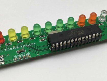 Lead Acid Battery Voltage Monitor using ATMEGA328