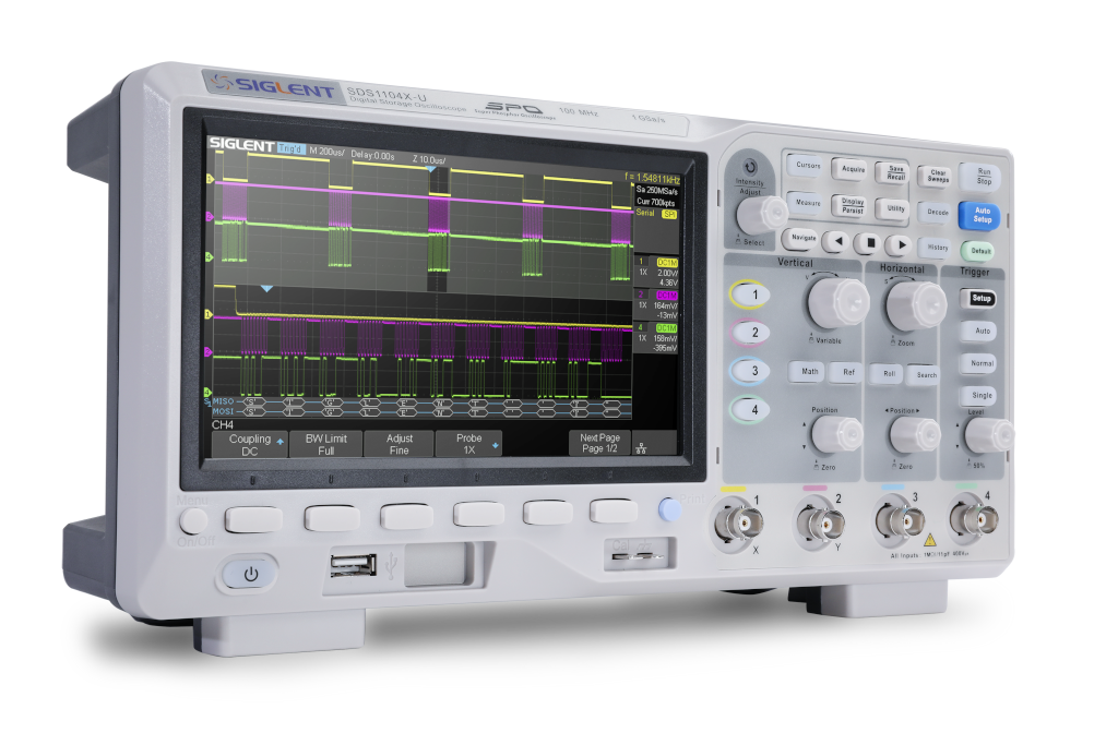 Siglent SDS1104X-U 100MHz Four channel oscilloscope sells for €359.00