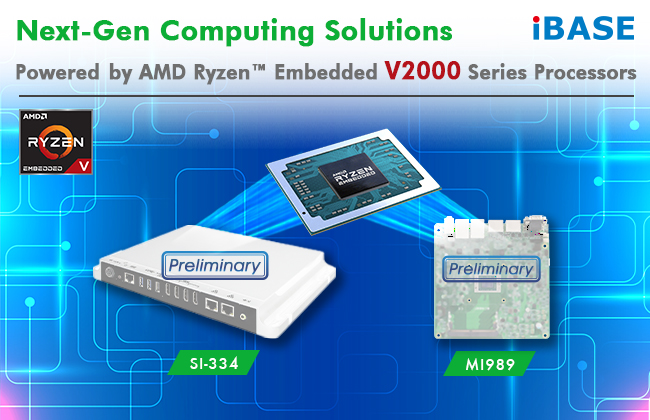 Next-Gen Computing Solutions Powered by AMD Ryzen™ Embedded V2000 Series Processors