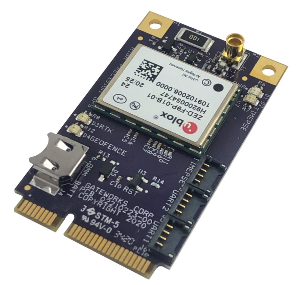 New High Precision u-blox ZEP-F9P GNSS Mini-PCIe Adapter
