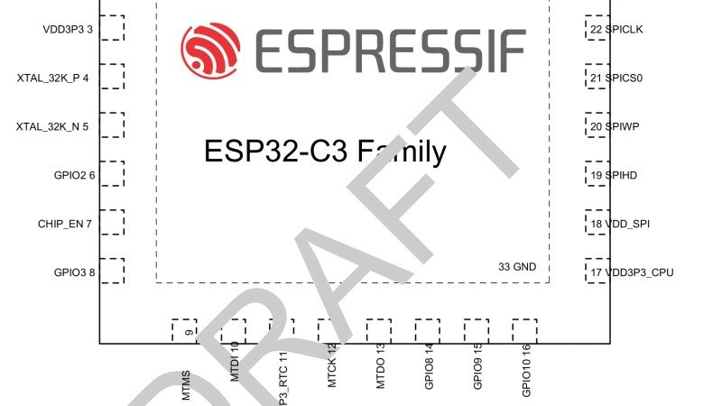 Espressif Leaks RISC-V Powered ESP8266 Pin-Compatible ESP32-C3