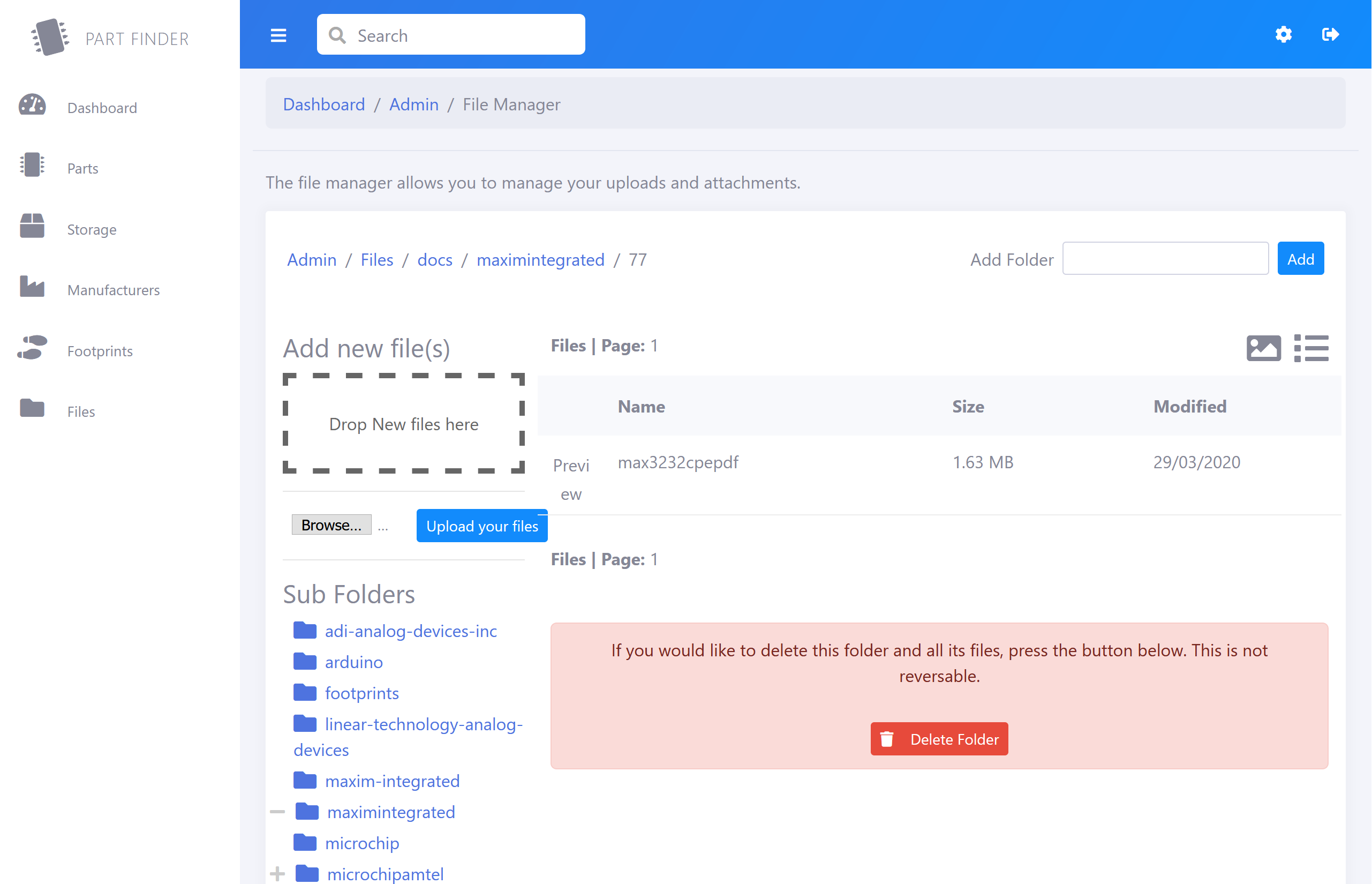PartFinder component inventory manager Helps You Organize Your Inventories