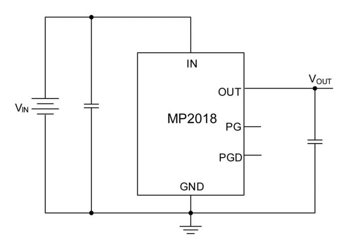 MP2018 is a 16 V, 500 mA, low quiescent current linear regulator
