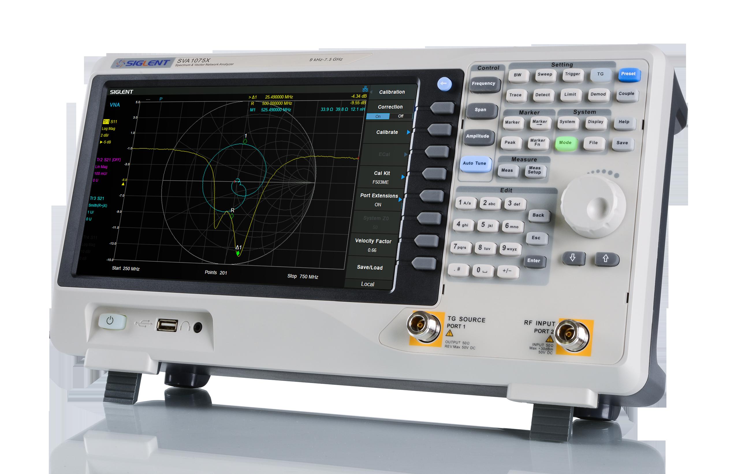 Economical SVA1075X 7.5GHz Spectrum / Vector Network Analyzer