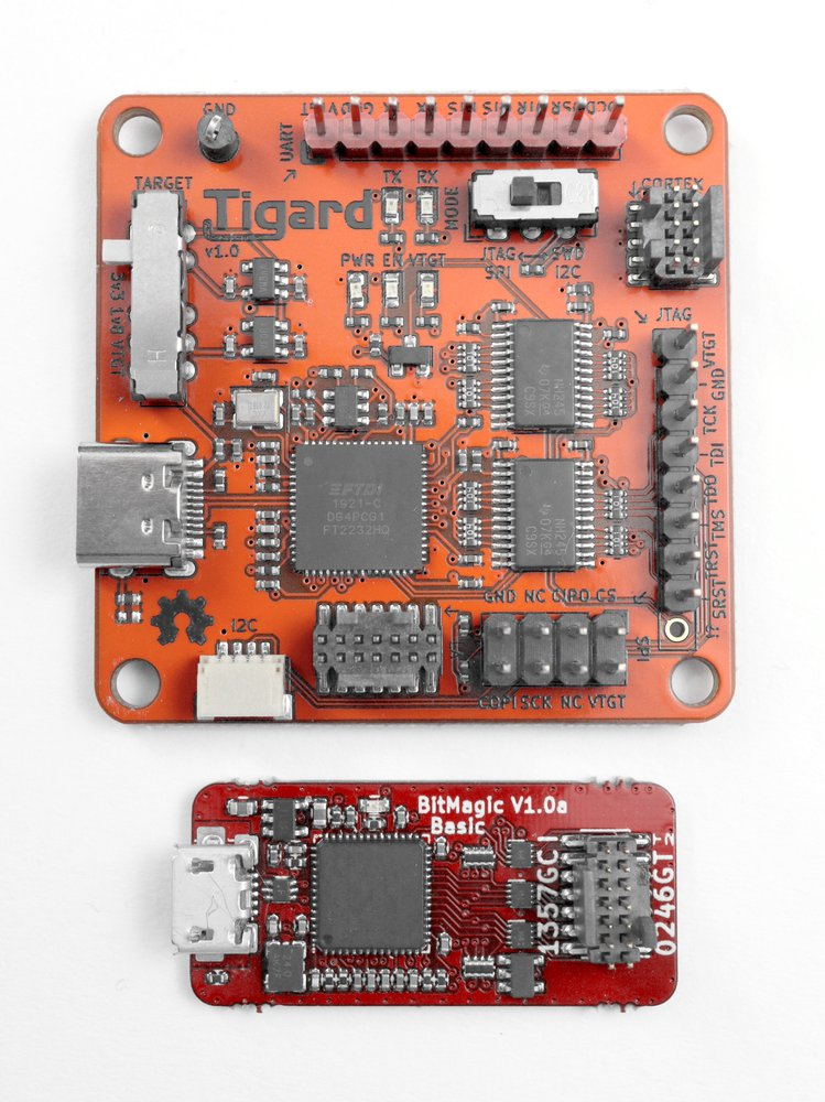 The TIgard along with a companion logic analyser
