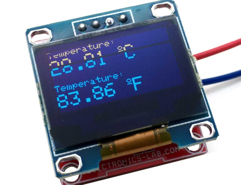 ThermoDuino – OLED Display Thermometer and Tiny Arduino Board