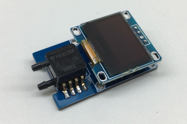 Digital Pressure Gauge 0 to 10kPa (0 to 1.75 psi) with OLED display