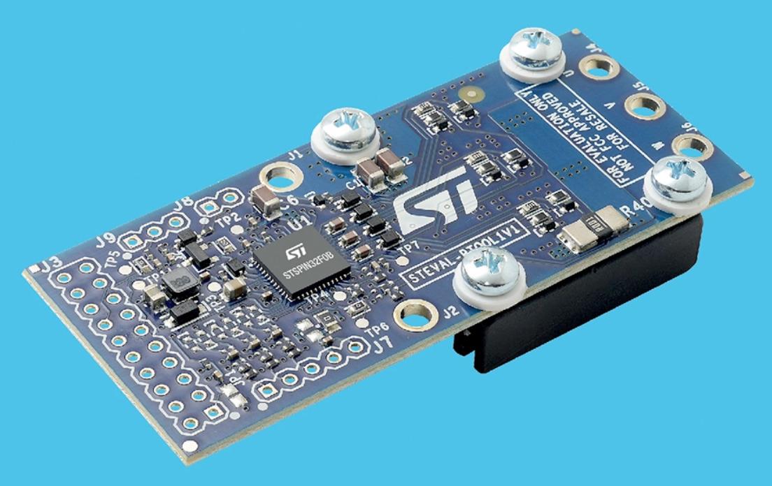 STMicroelectronics STEVAL-PTOOL1V1 BLDC Motor Driver for Battery-Powered Applications