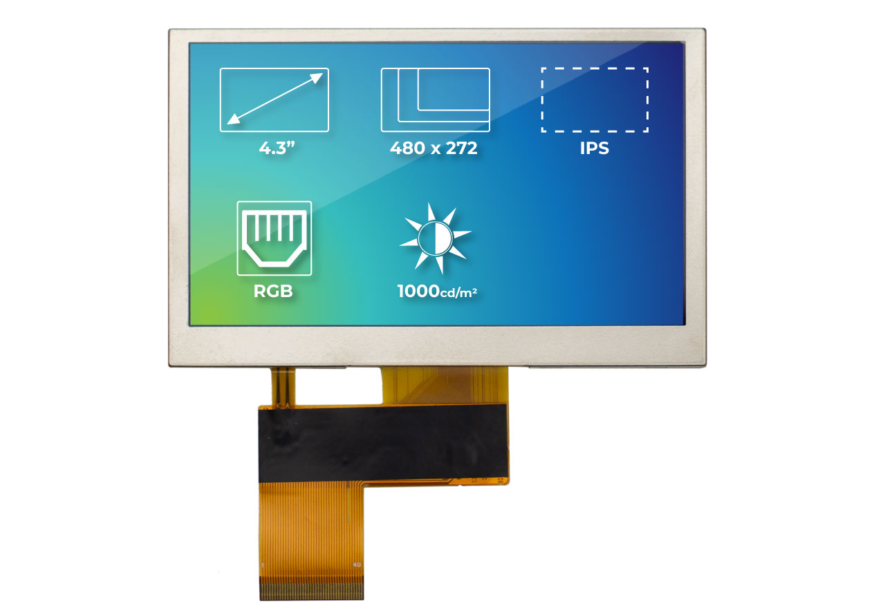 Riverdi High Brightness IPS TFT Modules With Multi-Touch, Gestures, and High-Precision