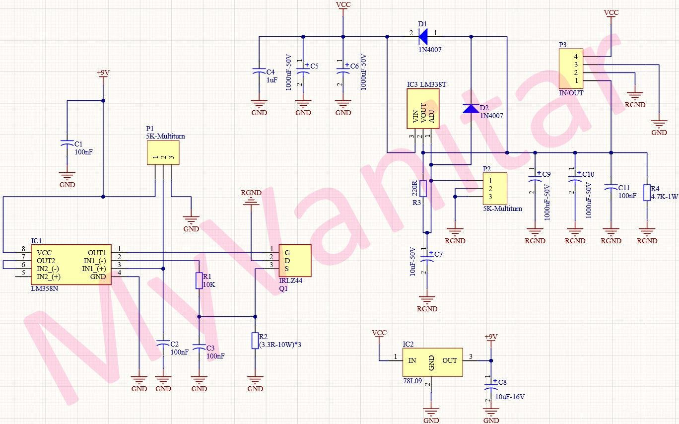 30V/4A Adjustable Power Supply (CC-CV)