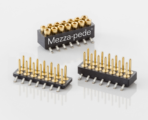 Mezza-pede 1.0mm pitch SMT Connectors from Advanced Interconnections Corp