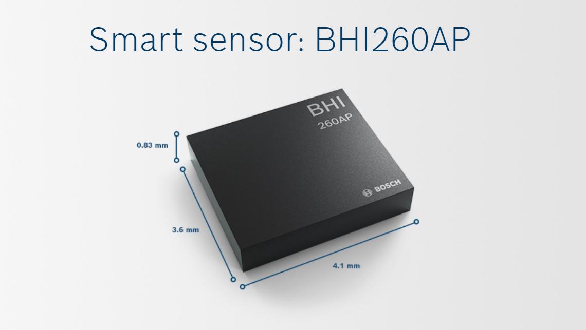 Bosch's BHI260AP self-learning AI smart sensor for fitness tracking