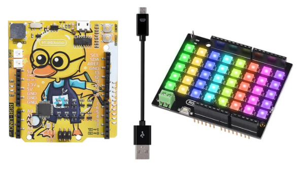 RGBDuino UNO and RGBDuino RGB Shield: Add Light and Questionable Arduino PCB