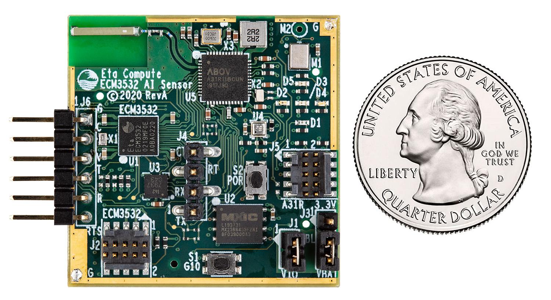 Eta Compute's ECM3532 AI Sensor Board with TENSAI SoC for TinyML