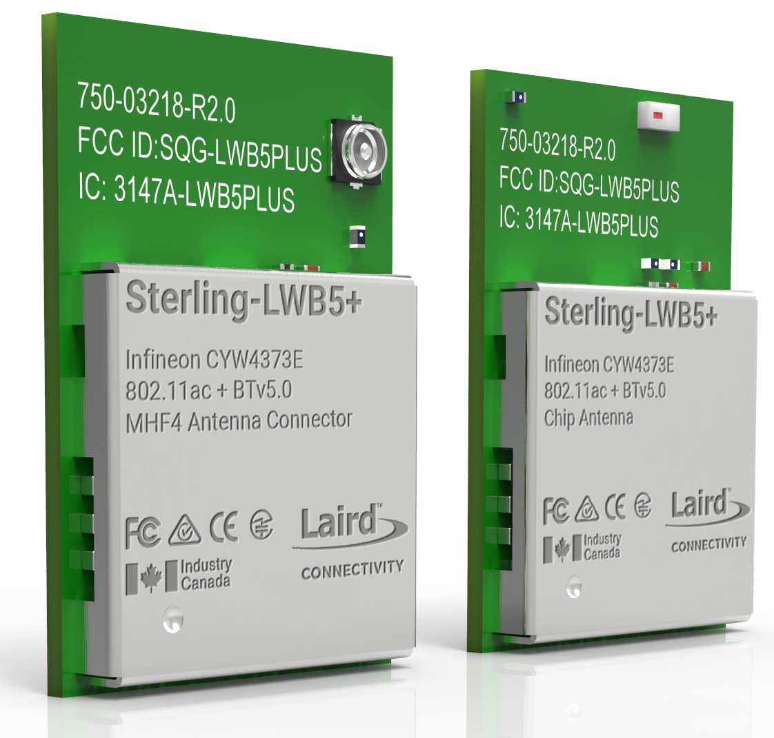 Sterling LWB5+ Wi-Fi® + Bluetooth® Modules