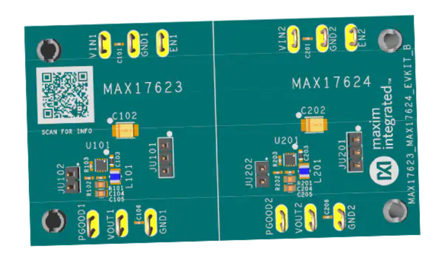 Maxim Integrated MAX17623/MAX17624 Evaluation Kits