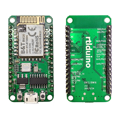 Rtlduino RTL8720DN Dual-Band WiFi Board With 2.4/5GHz Wireless MCU Sells for $6