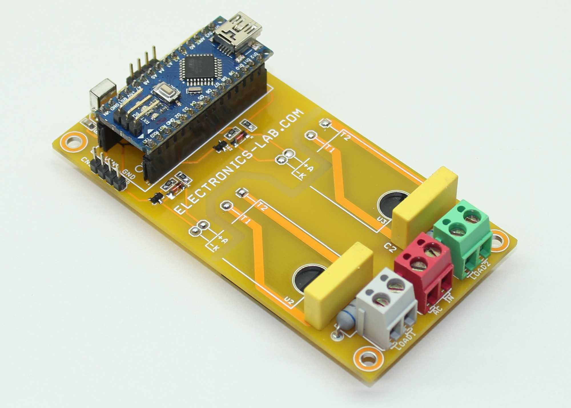 Arduino Nano- Switching ON/OFF Appliances Using Infra-Red Remote (Two Channel)