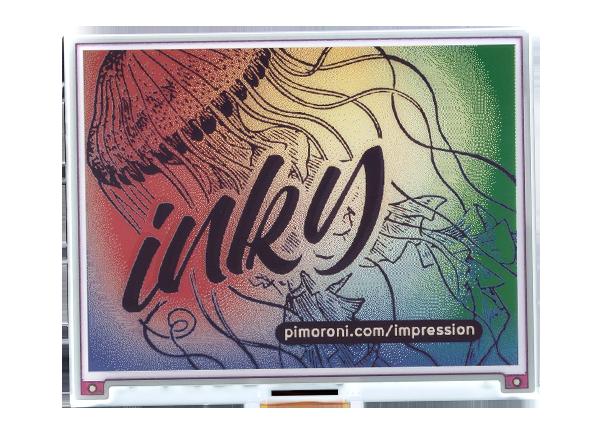 Pimoroni PIM534 Inky Impression (7 colour ePaper/eInk/EPD)