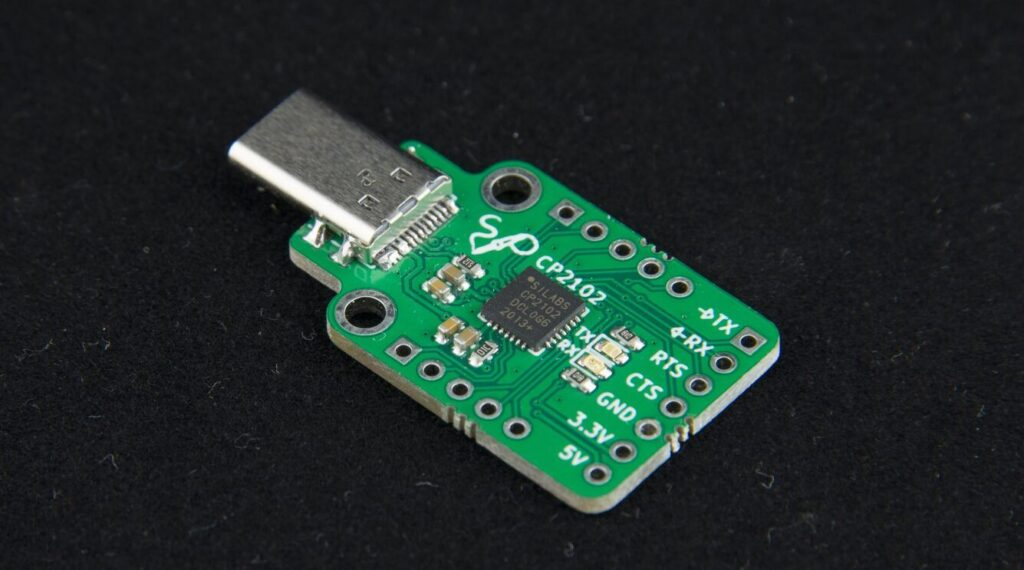 CP2102 USB to UART Breakout Board Features USB Type-C