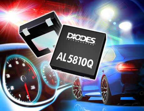 Diodes' AL5810Q 60 V adjustable current up to 200 mA linear LED driver offers excellent stability
