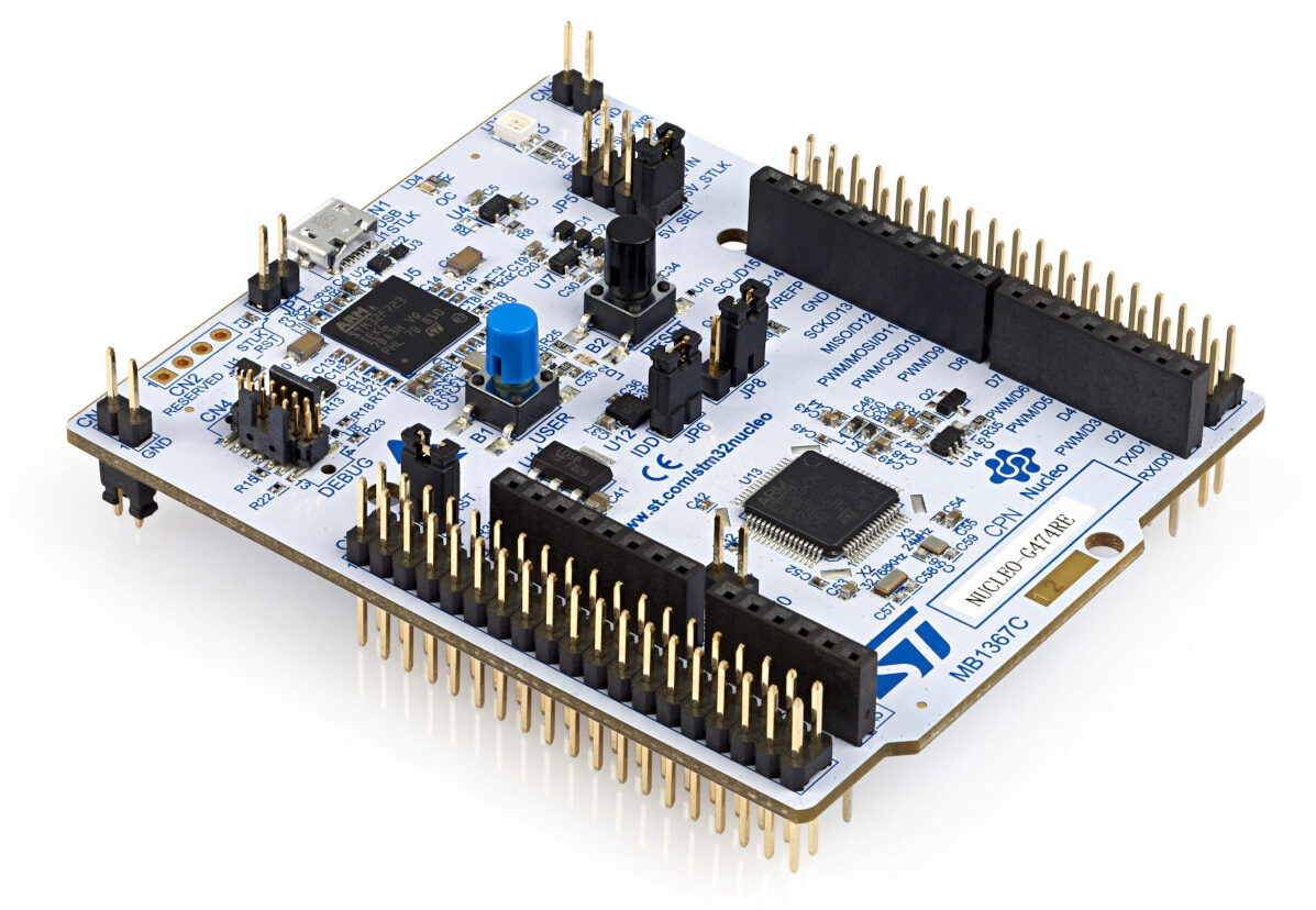 STM32 Nucleo-64 development board with STM32G491RE MCU, supports Arduino and ST morpho connectivity