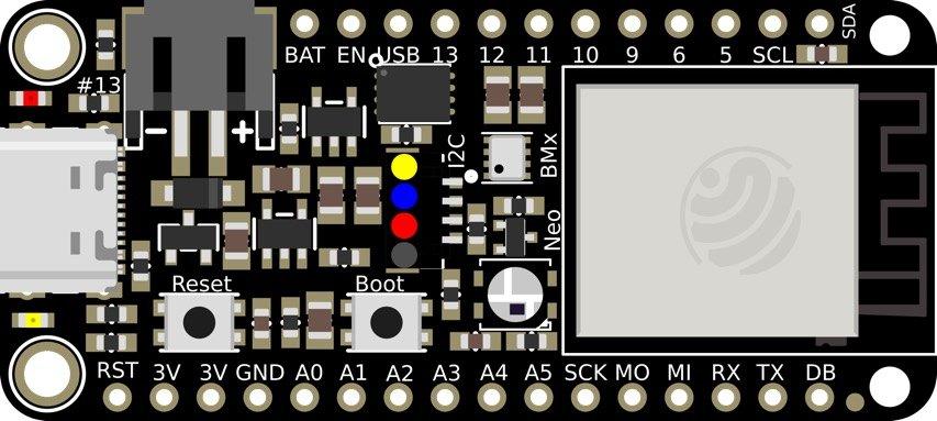 Adafruit's Panel-mount TFT ESP32-S2 Wi-Fi Feather Board
