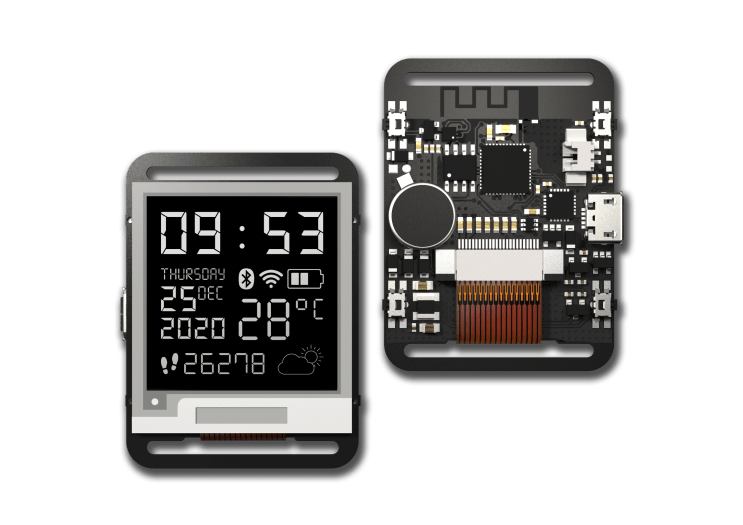 Watchy: Pebble-like SmartWatch with Bluetooth and WiFi 4 Connectivity