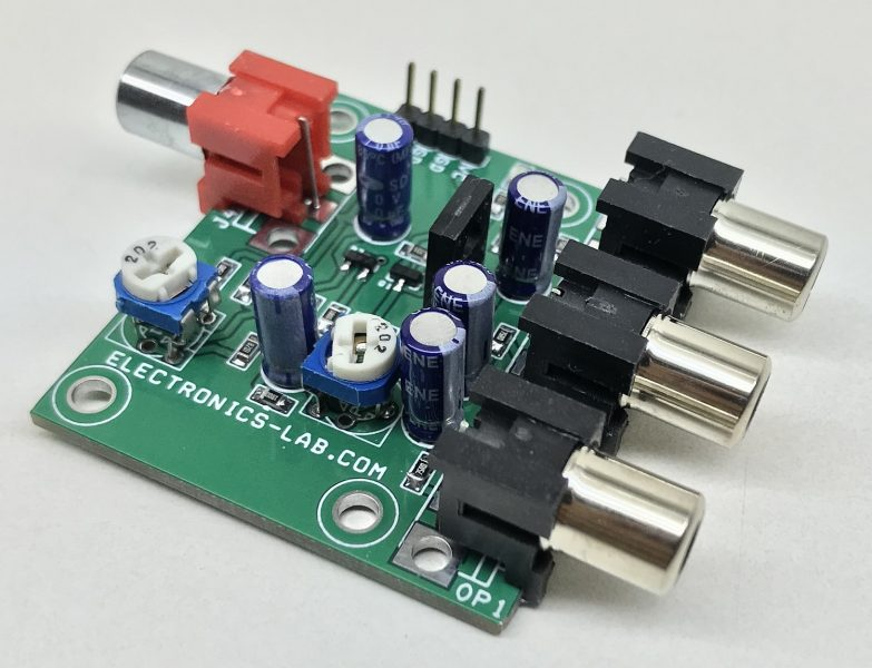 3 Channel Analog Video Splitter with Video Amplifier
