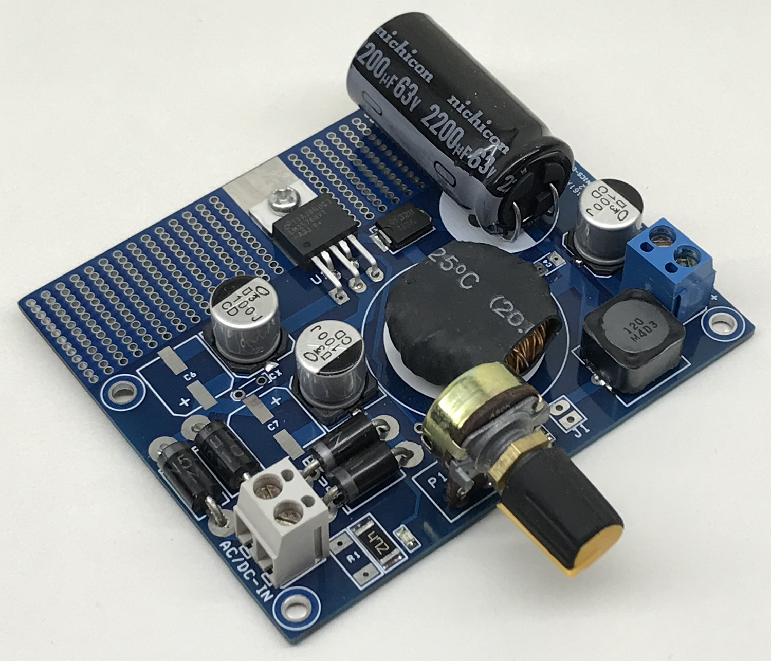 1.2V to 50V @ 3A – Adjustable Power Supply with 55Vdc Input