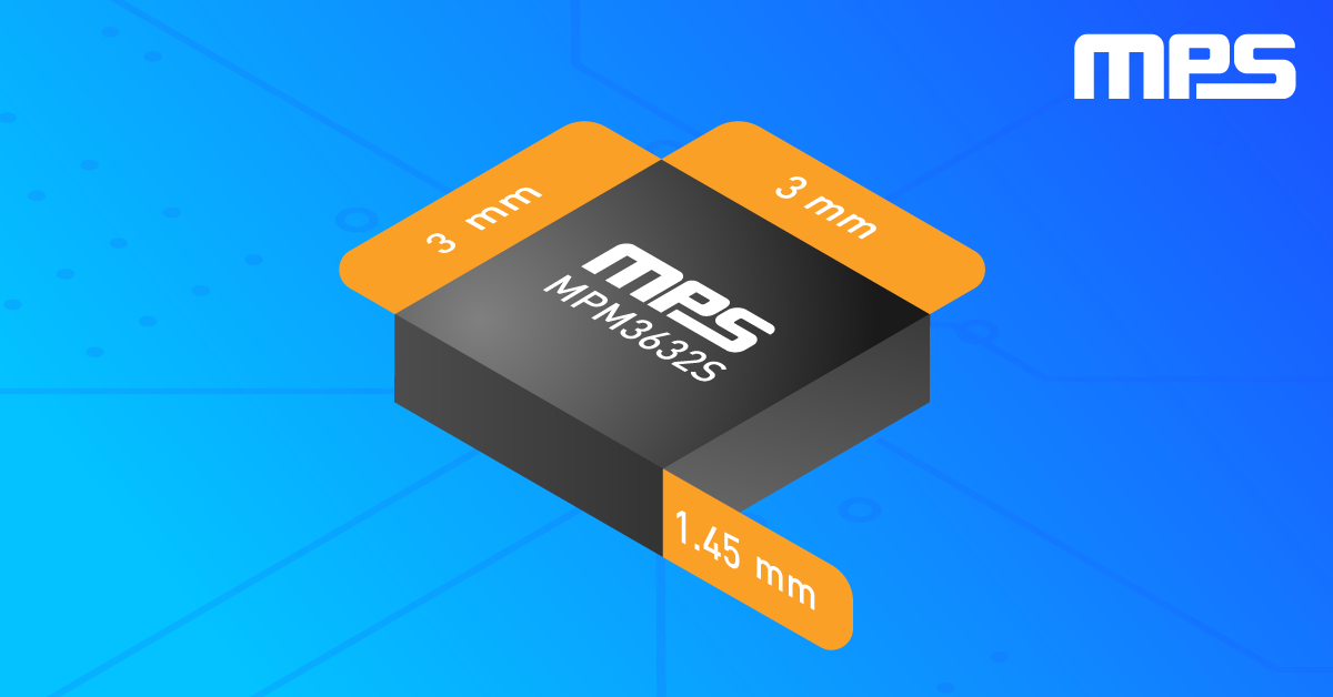 MPM3632S High-Frequency 18 V/3 A DC/DC Regulator with Integrated Inductor
