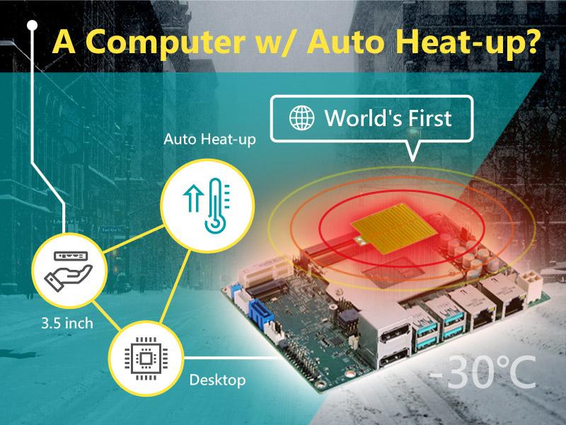 "World's First! A Computer With Auto Heat-Up? DFI 3.5"" Desktop CS551 Can Run Even At Subzero Temperatures"