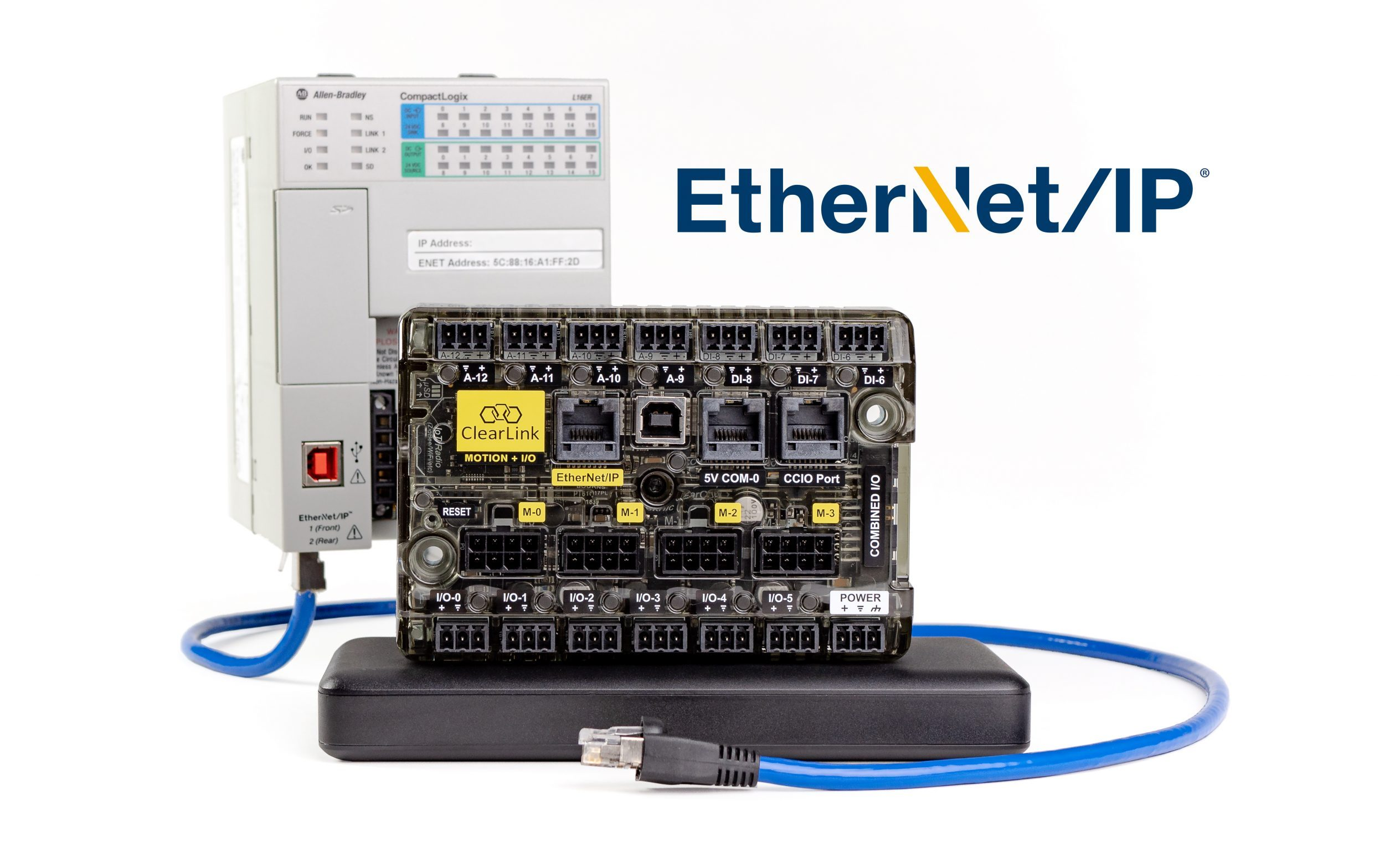 ClearLink: a new, EtherNet/IP Motion and I/O Controller – 4 axes for just $249!