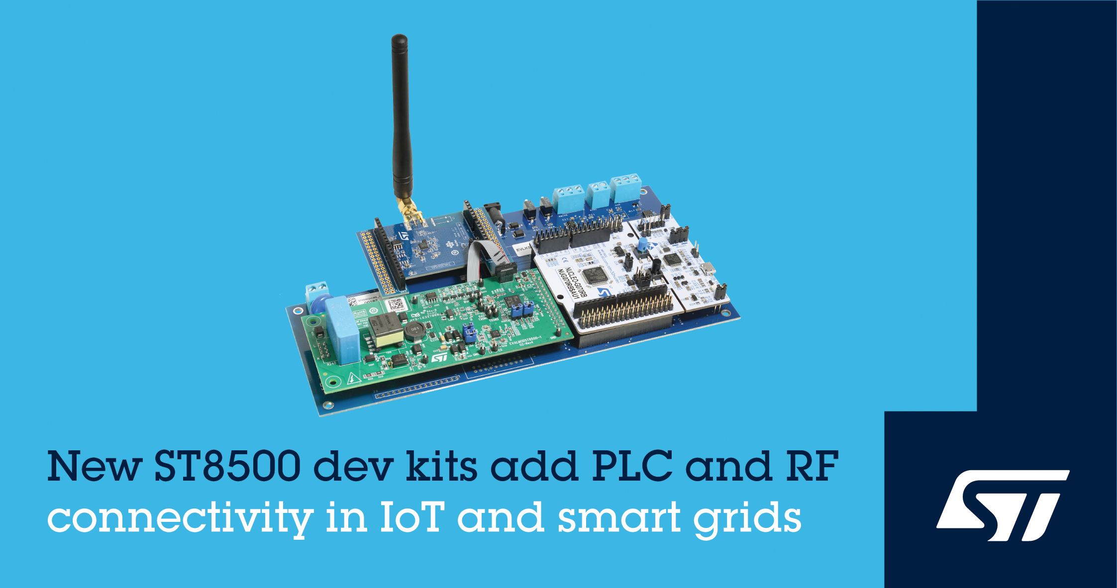 STMicroelectronics Evaluation Boards to Boost the G3-PLC Hybrid Connectivity into Smart Devices