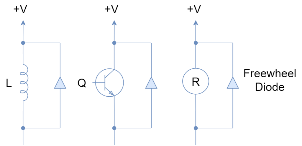 Freewheel diode applications