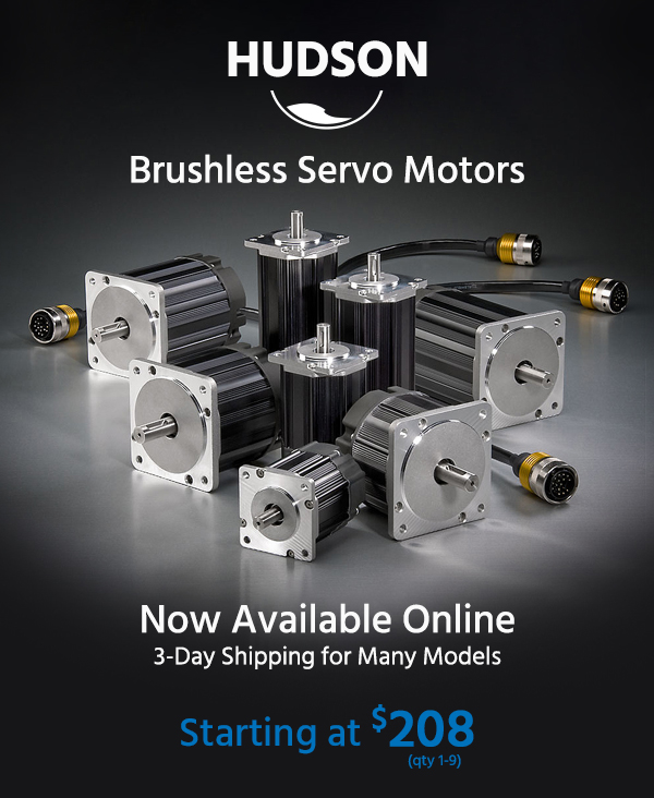 Teknic's brushless servo motors are now available online