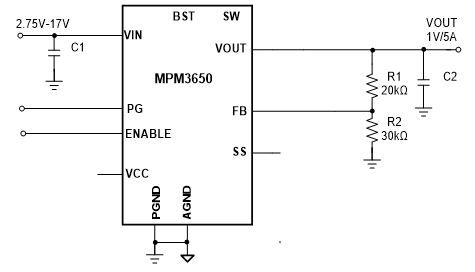 MPM3650 Synchronous Ultra-Thin Power Module