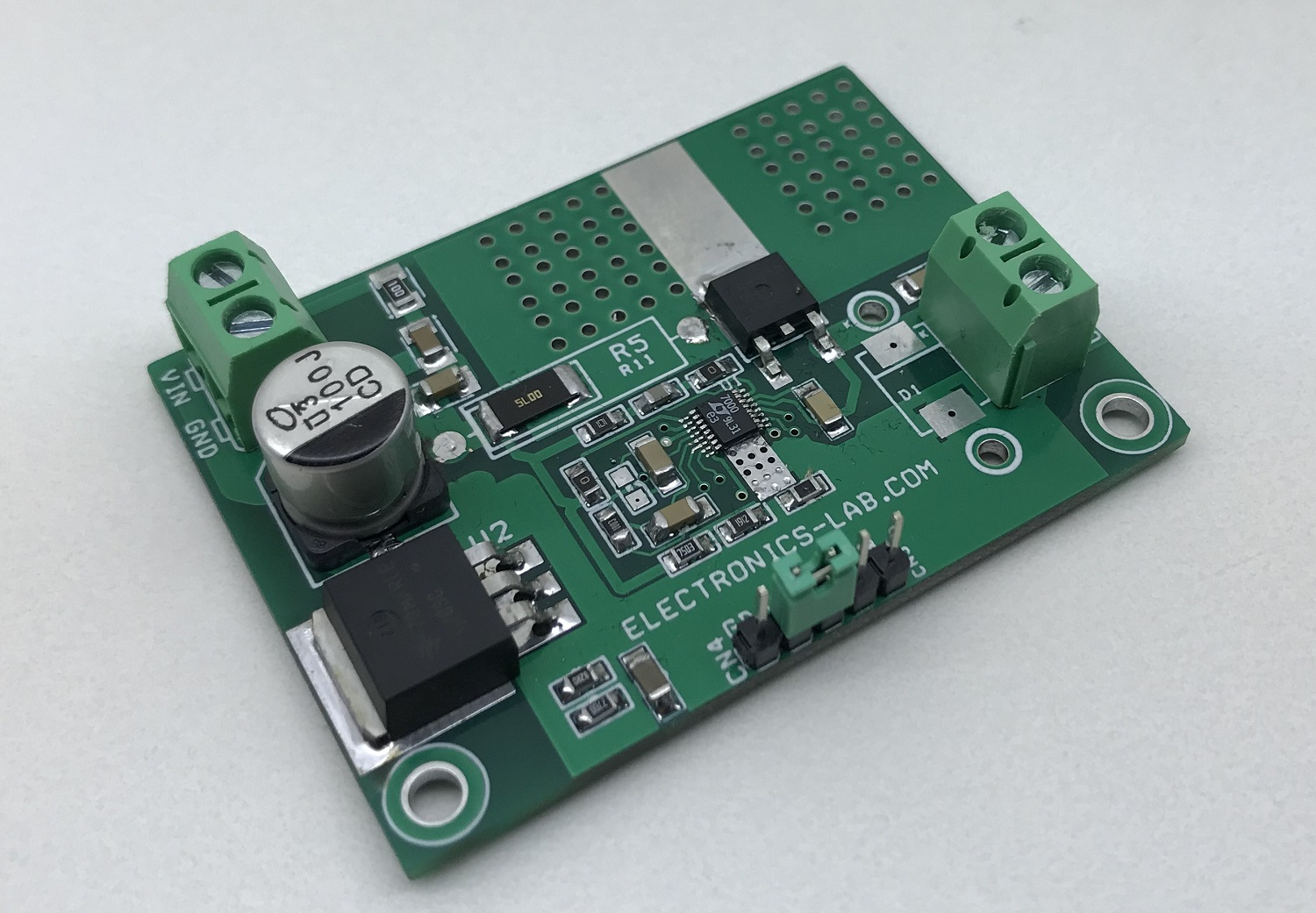 High Side Switch with Input Overvoltage and Overcurrent Protection