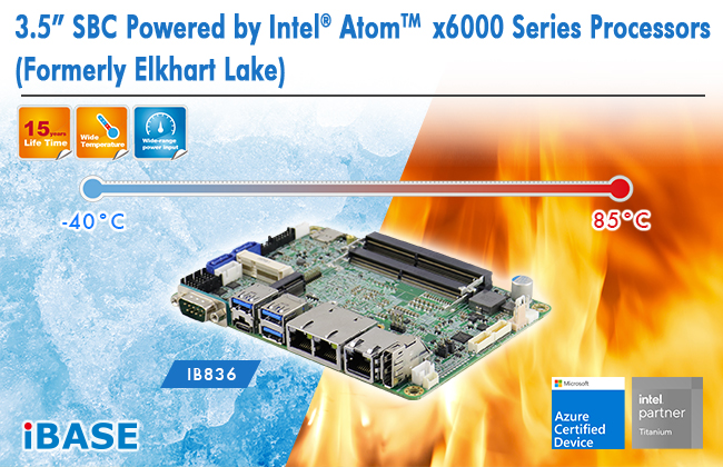 "3.5"" SBC Powered by Intel® Atom x6000 Series Processors"