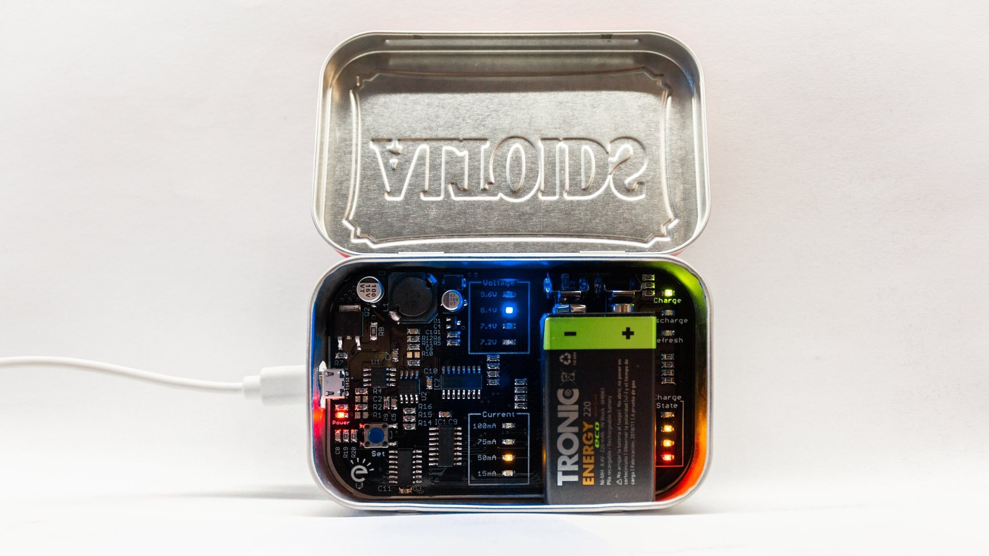 This MintyCharger Is Designed For All 9V PP3 Batteries In The Market