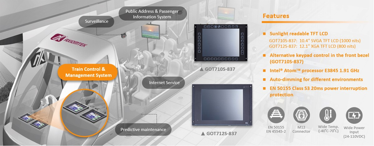 "Axiomtek Releases the 10.4"" and 12.1"" Touch Panel PCs – GOT710S-837 and GOT712S-837"