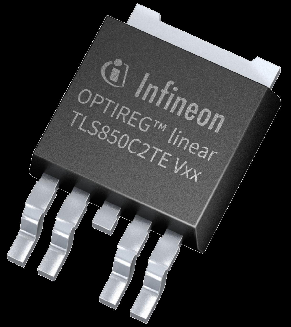 Infineon OPTIREG™ TLS850C2TE V50 & V33 linear voltage regulators