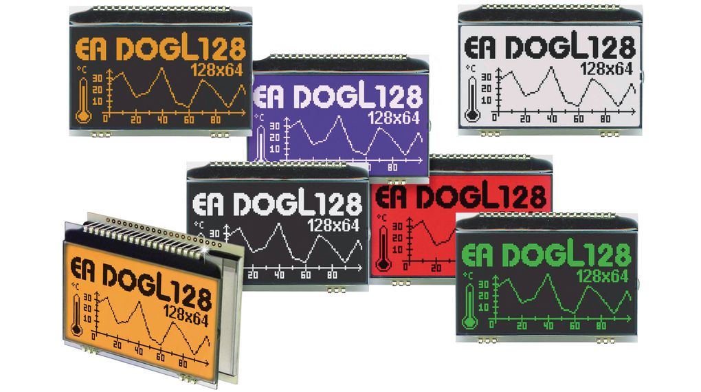 """2.8"""" Compact Low-Power Graphic LCDs"""