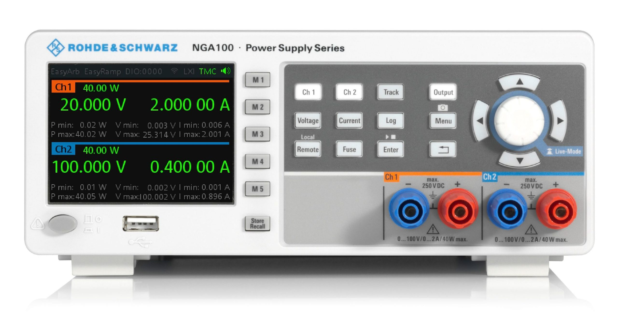New Rohde & Schwarz NGA100 power supply series, stocked by Farnell