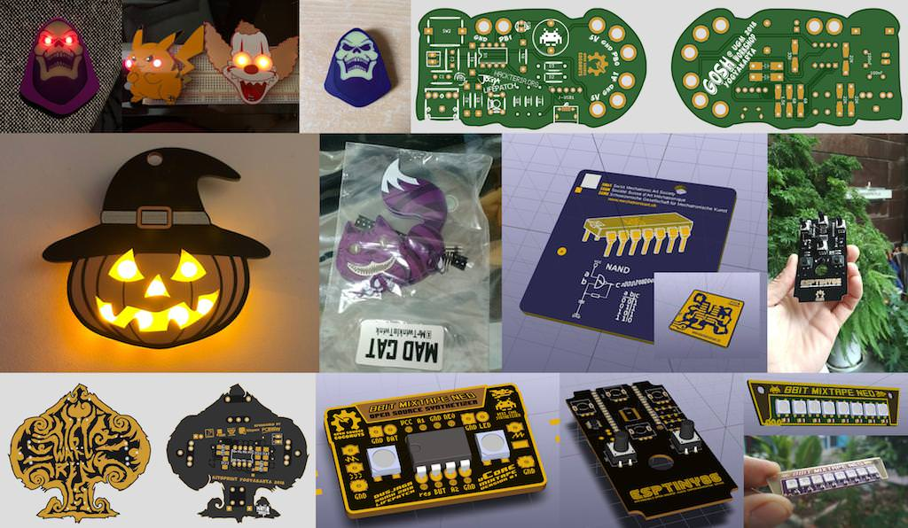 An Inkscape extension for exporting drawings into a KiCad PCB